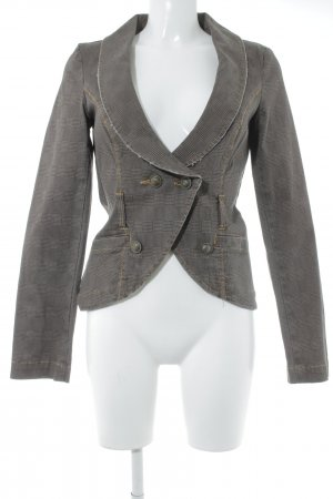 Only Blazer frac marrone-grigio-marrone scuro motivo a quadri stile casual