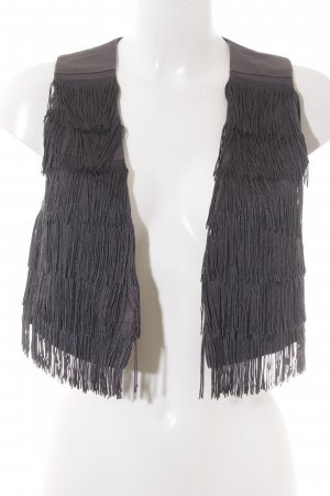 Only Fringed Vest grey hippie style
