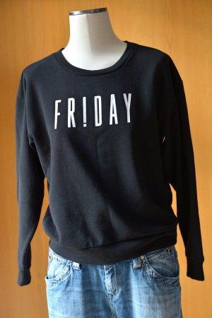 Only Sweatshirt zwart-wit Gemengd weefsel
