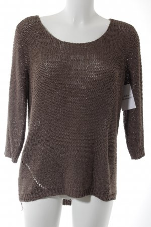 Only Grobstrickpullover hellbraun Casual-Look