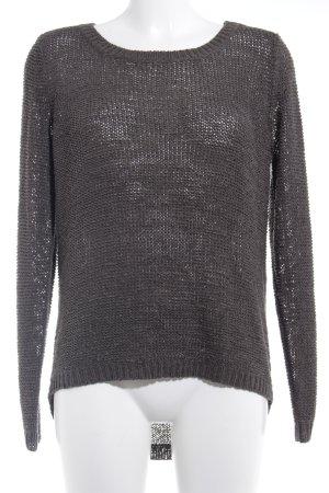 Only Pullover all'uncinetto grigio scuro stile casual