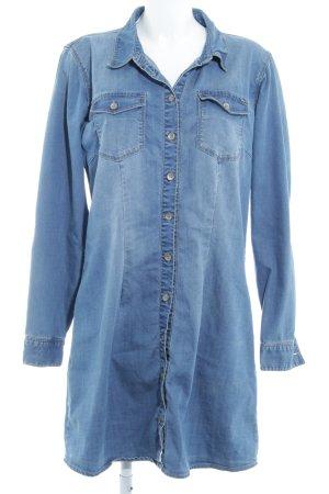 Only Abito blusa camicia blu acciaio stile casual
