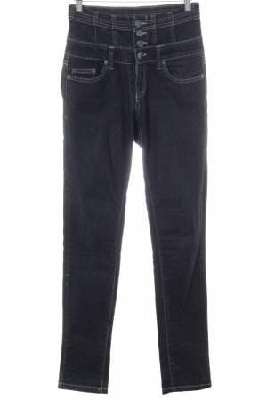 Only Hoge taille jeans zwart casual uitstraling