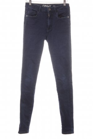 Only Hoge taille jeans donkerblauw straat-mode uitstraling