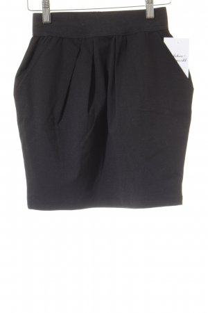 Only High Waist Rock schwarz Elegant