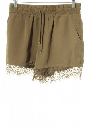 Only High-Waist-Shorts olivgrün florales Muster Romantik-Look