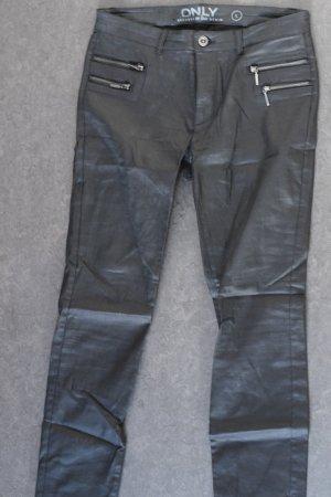Only Pantalon taille basse noir-argenté coton