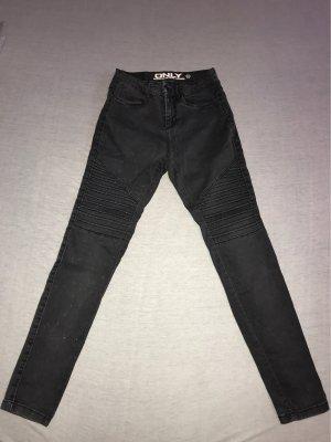 Only Pantalón de tubo gris oscuro-gris antracita