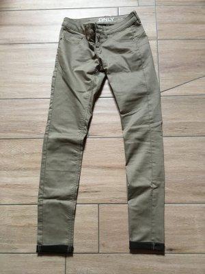 ONLY Hose Jeans Größe 36/34 beige schwarz