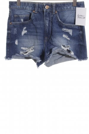 Only Hot pants blu fiordaliso stile da pattinatore