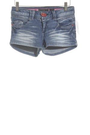 Only Hot Pants weiß-stahlblau meliert extravaganter Stil