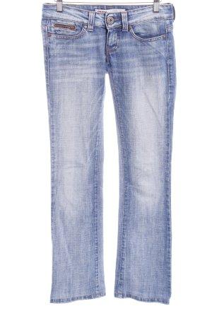 Only Jeans vita bassa blu fiordaliso-bianco Colore sfumato stile casual