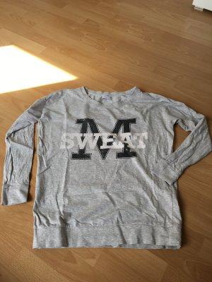 Only Jacqueline de Yong S 36 38 Pullover College Sweatshirt grau Oversize