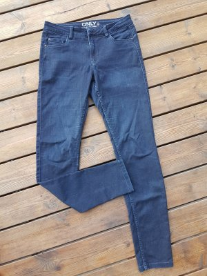 Only High Waist Jeans dark blue