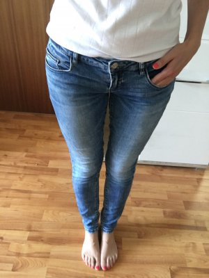 Only Low Rise jeans staalblauw