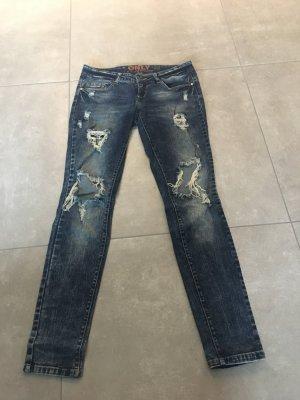 Only Tube Jeans dark blue-blue