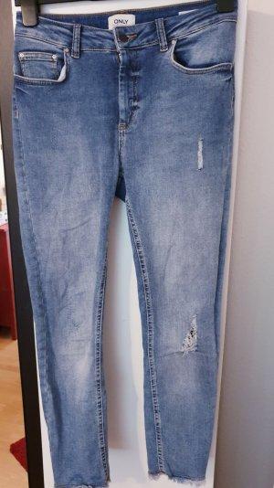 Only Pantalón de tubo azul celeste