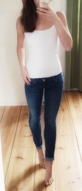 Only Jeans blau stretchig knapp 25/32 wie neu