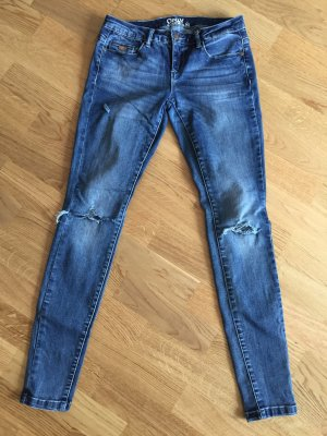 Only Jeans Cuts skinny blau 27/32