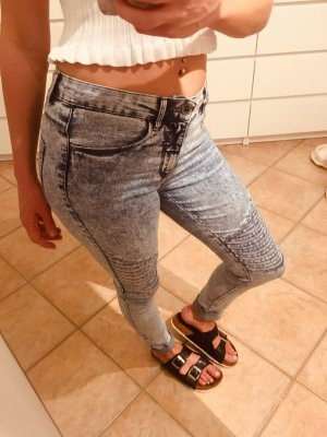 Only Biker Jeans white-blue