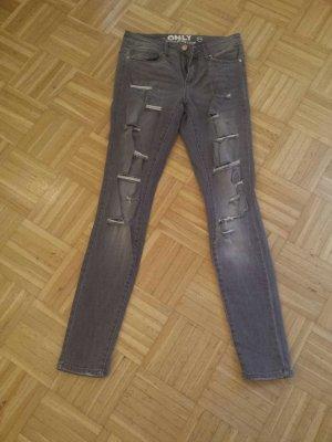only jeans gr 28/32 grau