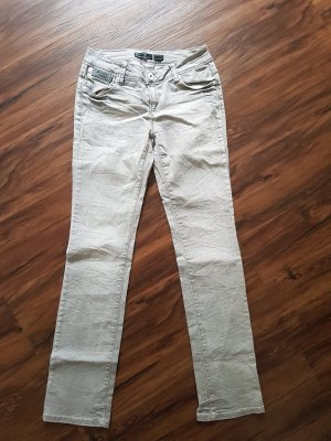 Only Jeans bootcut argenté-gris clair coton