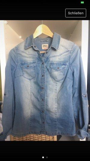 Only Jeans Hemd Denimblue 34