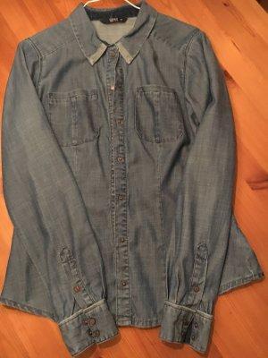 Only Jeans Hemd Mittel blau 38 wie neu