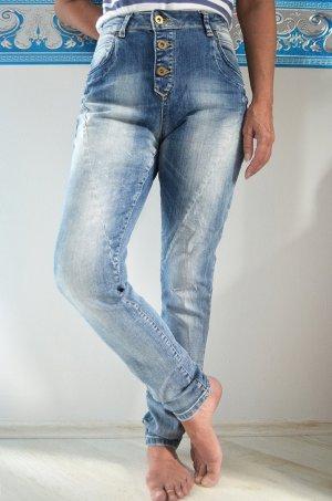 Only Jeans Highwaist Nieten Acid Washed NEU Skinnyjeans Used Look