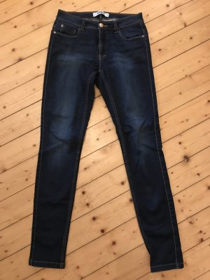 Only Lage taille broek donkerblauw