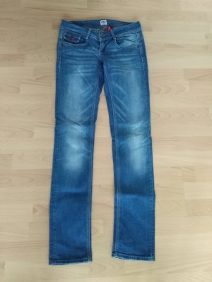 Only Straight Leg Jeans multicolored cotton