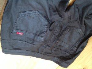 Only Jeans in Wachs-/ Lederoptik schwarz