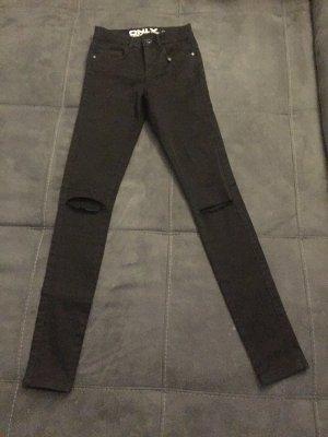 Only Jeans schwarz (kneecut) in der Gr. XS/32