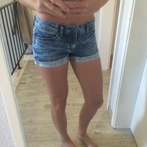 ONLY Jeans Shorts blau
