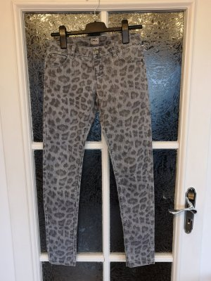 Only Jeans skinny Gr. 36 leo animal print grau