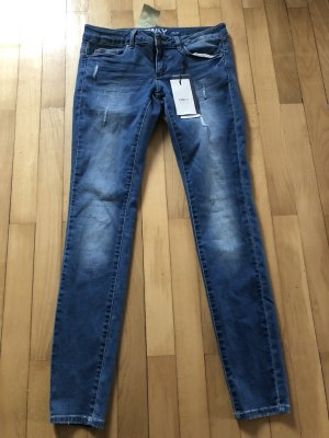 Only Jeans vita bassa blu