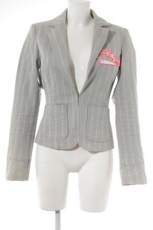 Only Blazer en jean gris clair-beige clair imprimé avec thème Aspect de jeans