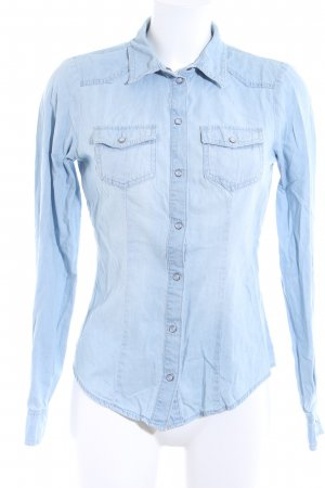 Only Jeanshemd babyblau Jeans-Optik