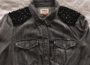 Only Camisa vaquera negro-gris