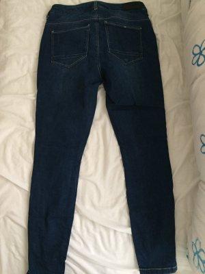 Only Tube jeans donkerblauw Katoen