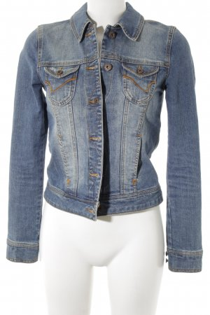 Only Jeansjacke blassblau-graublau Washed-Optik
