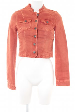 Only Jeansjacke dunkelorange-apricot Casual-Look