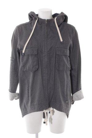 Only Jeansjacke grau schlichter Stil