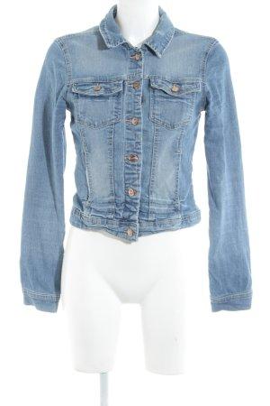 Only Jeansjacke kornblumenblau Street-Fashion-Look
