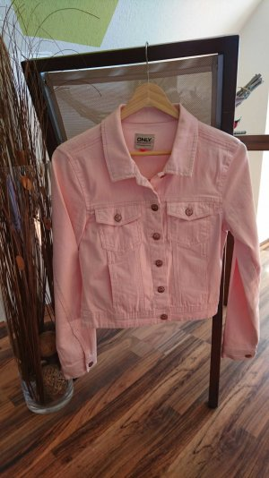 Only jeansjacke rosa