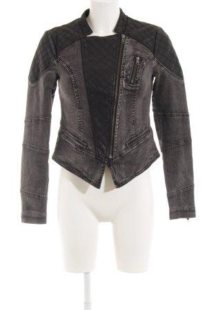 Only Jeansjacke schwarz-grau minimalistischer Stil
