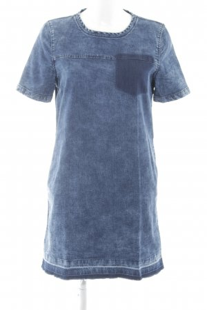 Only Jeanskleid neonblau Jeans-Optik