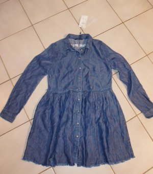 Only Robe chemise bleu lyocell