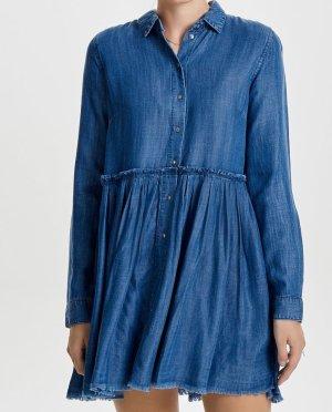 Only Abito blusa camicia blu Lyocell