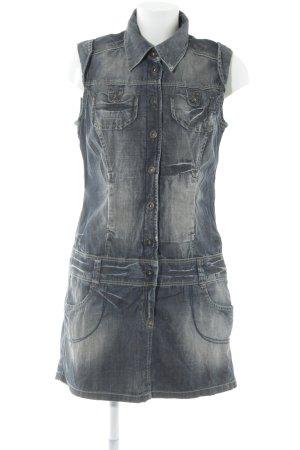 Only Jeanskleid graublau Jeans-Optik